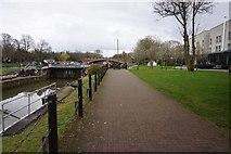 TQ0172 : Thames Path at Bell Weir Lock by Ian S