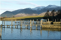 NY2622 : Old jetties north of Friar's Crag, Derwent Water by Colin Park