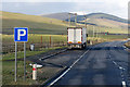 NS9325 : Layby on the A702 near to Abington, by David Dixon