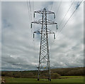 SS4931 : A pylon carrying power from Yelland to the Alverdiscott National Grid Substation by Roger A Smith