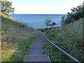 NT3497 : Steps along the Fife Coastal Path by Mat Fascione