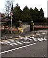 ST3090 : Warning sign - right bend ahead, Pillmawr Road, Malpas, Newport by Jaggery