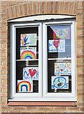 SK9567 : Rainbows in a window by Julian P Guffogg