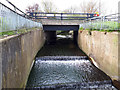 SE2533 : Cascade into Farnley reservoir, looking up, low flow by Stephen Craven