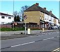 ST3090 : No U-turns sign, Malpas Road, Newport by Jaggery