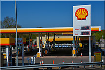 ST0207 : Cullompton : Shell Petrol Station by Lewis Clarke