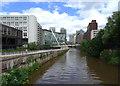 SJ8398 : Trinity Bridge, River Irwell by habiloid
