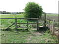 NZ3373 : Stile near the Beehive Inn, Whitley Bay by Geoff Holland