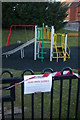 TM3863 : Closed playground, Coronavirus pandemic, Saxmundham by Christopher Hilton