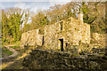 SW9553 : Abandoned Building in Tregargus Woods by Mike Lyne