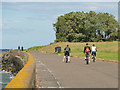 NT2177 : Cyclists on Silverknowes Esplanade by Stephen Craven