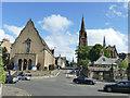 NT2374 : Bristo Baptist Church and Dean Church by Stephen Craven