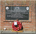 TM3989 : Memorial to the crew of B 24, Liberator, 42-52445, 22 April 1944 by Adrian S Pye