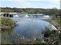 SE3521 : Kirkthorpe weir, River Calder by Christine Johnstone
