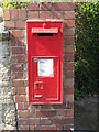 NZ3270 : Wall Mounted Victorian Letter Box, Murton by Geoff Holland