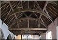 SJ2028 : St Silin's Church: Roof over South Nave by Bob Harvey