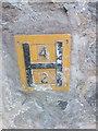SH5872 : Hydrant marker on Tan-y-Fynwent, Bangor by Meirion
