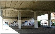 TG2309 : Graffiti underneath the St Magdalen Street flyover by Evelyn Simak