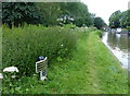 SJ7029 : Shropshire Union Canal milepost near Goldstone Common by Mat Fascione