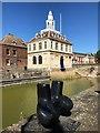 TF6120 : A clear blue sky over the Custom House, King's Lynn by Richard Humphrey