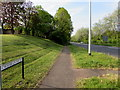 ST2993 : Pavement on the east side of the  A4051 Cwmbran Drive, Llantarnam, Cwmbran by Jaggery