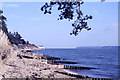 SZ4598 : View along foreshore at Lepe to Lepe Watchhouse by Colin Park