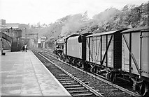 SH5771 : The west end of Bangor Station, 1962 by Alan Murray-Rust