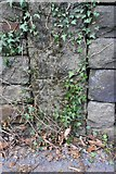 SE1039 : Benchmark on stone post in wall on northwest side of Harden Road by Luke Shaw