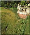 SO5476 : Garden bastion, Henley Hall by Derek Harper