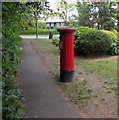 TQ1567 : King George VI pillarbox, Summer Road, East Molesey by Jaggery