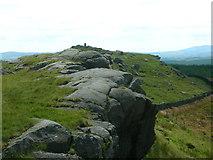 SD7659 : Cliffs north of Whelpstone Crag by John H Darch