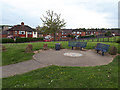 SE2535 : Victoria Park Garden: seating area by Stephen Craven