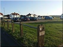 TG2142 : Cromer beach car park by David Howard