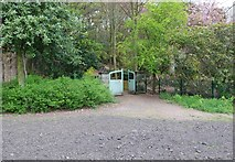 NO3901 : Gate into the Walled Garden, Silverburn Park, Leven by Bill Kasman