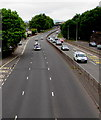 ST3089 : Three lanes and two lanes, Malpas Road, Newport by Jaggery