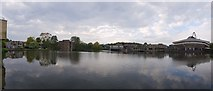 SE6250 : Panorama from Physics/Electronics path by the lake by DS Pugh