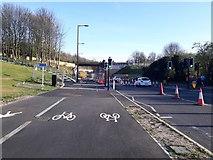 NZ2568 : Roadworks, Killingworth Road, Newcastle upon Tyne by Graham Robson