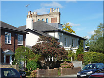 TQ1572 : Houses with unusual chimney stacks by Robin Webster
