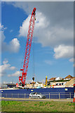 TQ3303 : Construction site at shaft for new Brighton sewer by Robin Webster