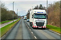 NS8981 : HGV on the A9 near Falkirk by David Dixon