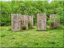 SD7705 : 7 Steles, Irwell Sculpture Trail by David Dixon