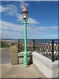 NZ3572 : Sewer Gas Lamp, Watts Slope, Spanish City Plaza by Geoff Holland