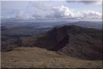 SH6544 : View towards Moelwyn Bach by Richard Webb