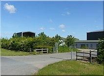 SK6635 : Stragglethorpe Grain Store by Alan Murray-Rust