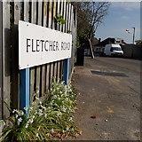 SZ0795 : Northbourne: Fletcher Road by Chris Downer