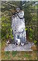 SN8307 : Hirfynydd Trig Pillar with VE75 Stone by Stephen Rees