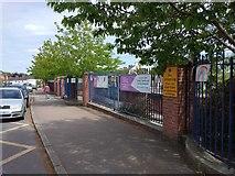 SX9392 : Exeter lockdown rainbow, St Michael's School, Heavitree, Exeter (2) by David Smith