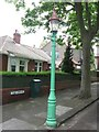 NZ3471 : Sewer Gas Lamp, The Grove, Monkseaton by Geoff Holland
