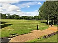TF4317 : The 9th green viewed from the 10th tee - Tydd St Giles Golf Course by Richard Humphrey