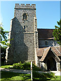 TR3451 : Church tower, Great Mongeham by Robin Webster